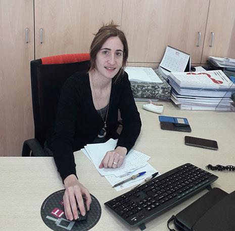 Marta Frechilla trabaja en el área de empleo en la oficina de Estella