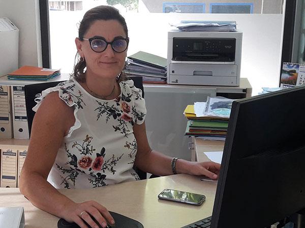 Marta Ruiz, técnico en prevención de riesgos laborales en la oficina de Tudela