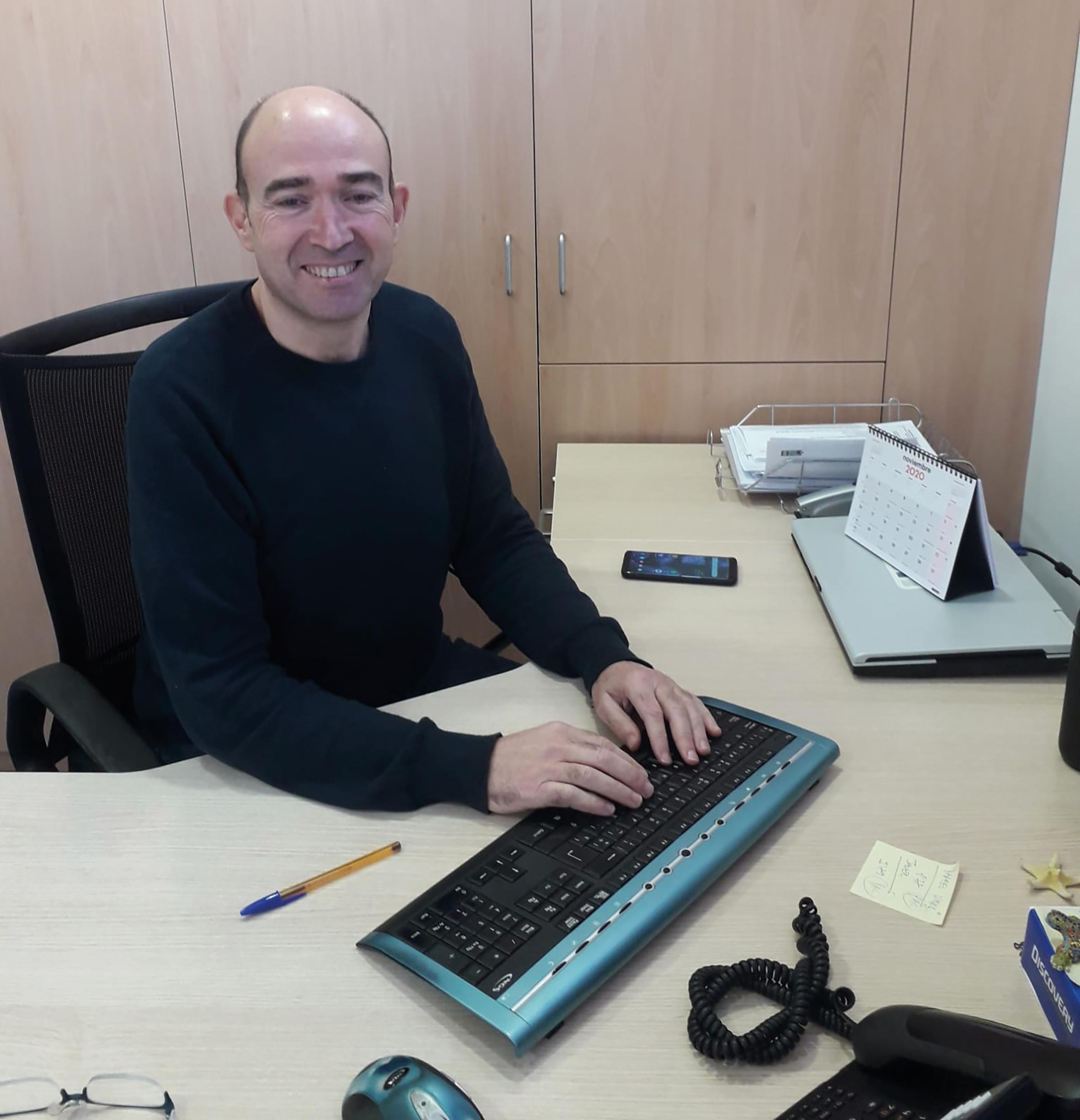 Álvaro Morrás, responsable de oficina en Estella