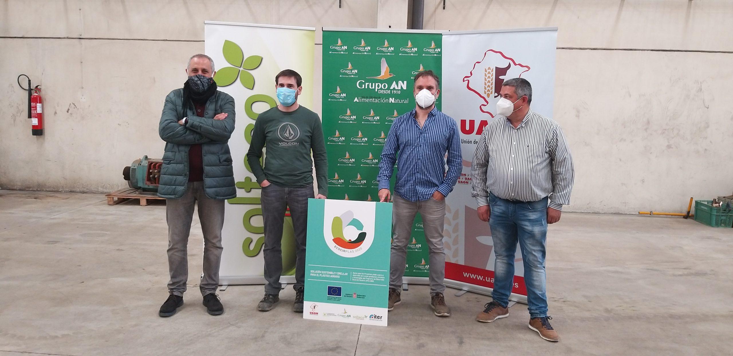 De izda. a dcha.:Arturo Ferrer (Iter Investigación), Sergio Menendez (Grupo AN), Iñaki Mendioroz (UAGN) y Vicente Sáinz (Solteco)